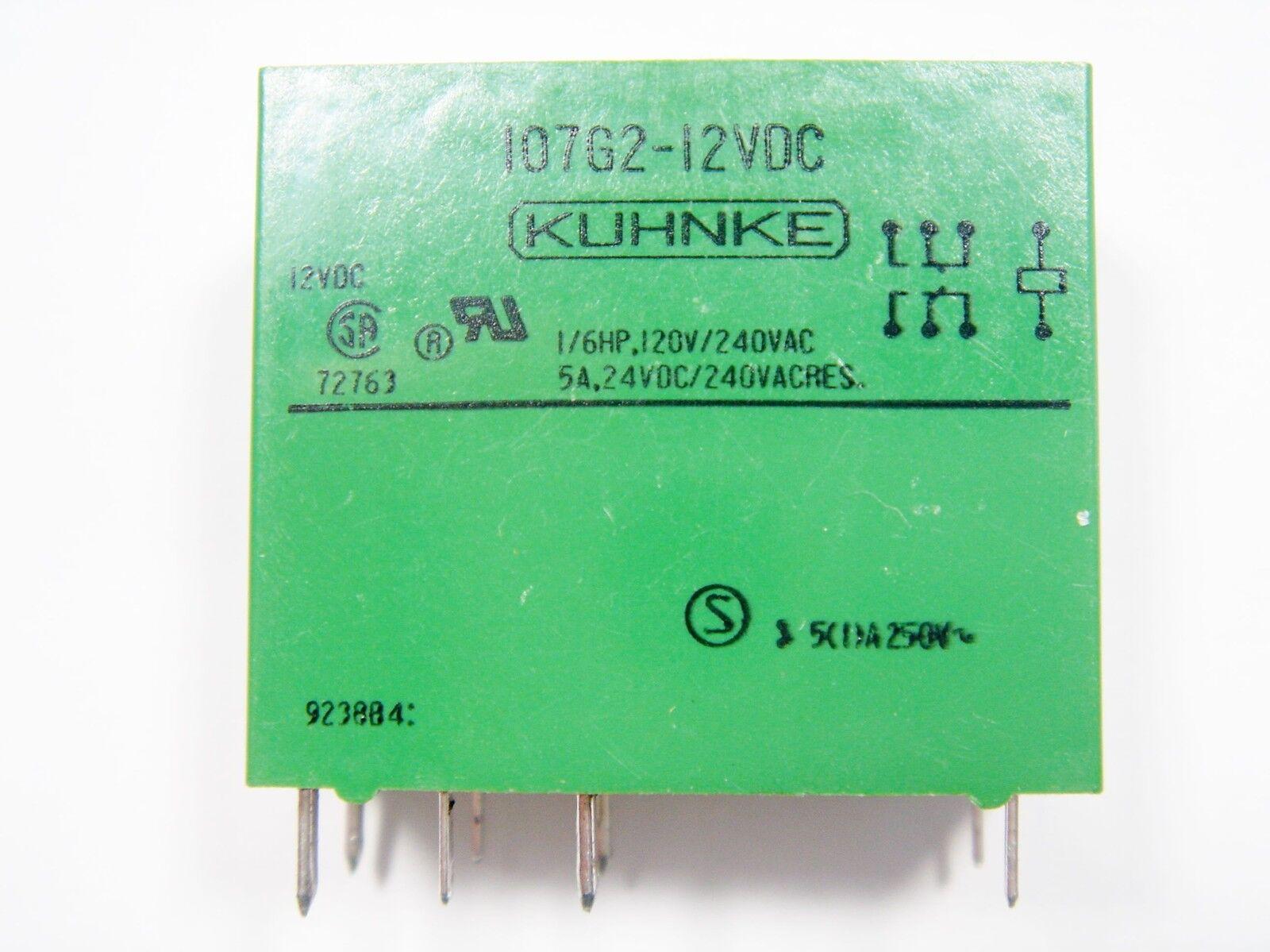 Relais 12V 2xUM 240V 5A KUHNKE 107G2-12VDC #20R47