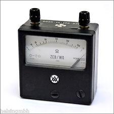 Hartmann & Braun ZEB/W0, analoges Ohmmeter, analogous Ohmmeter, tested, geprüft