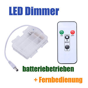 batterie betrieben led dimmer fernbedienung f r. Black Bedroom Furniture Sets. Home Design Ideas