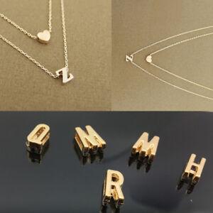 Argent//Or bébé Lettres Pendentif Collier clavicule chaîne Fashion Jewelry Choker