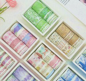 10Rolls-Washi-Tape-Decorative-Scrapbooking-Paper-Adhesive-Sticker-Craft-Gift-DIY