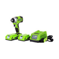 Greenworks G-24 24v Digipro Impact Driver + Batteries & Charger | Impact-37042 on sale