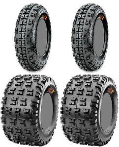 Four-4-Maxxis-Razr-XC-ATV-Tires-Set-2-Front-21x7-10-amp-2-Rear-20x11-9