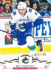 2018-19-Upper-Deck-Series-Two-425-Bo-Horvat-Exclusives-Base-Parallel