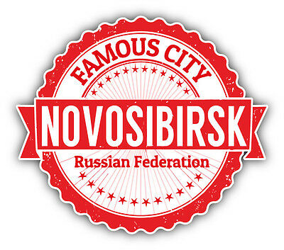 """Moscow City Russia Grunge Travel Stamp Car Bumper Sticker Decal 5/"""" x 5/"""""""