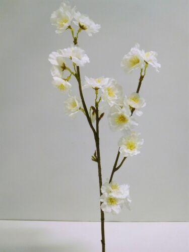 Fiori di ciliegio ramo Fiori di Ciliegio fiore di seta 60 cm Bianco crema 3018123no-40 f64