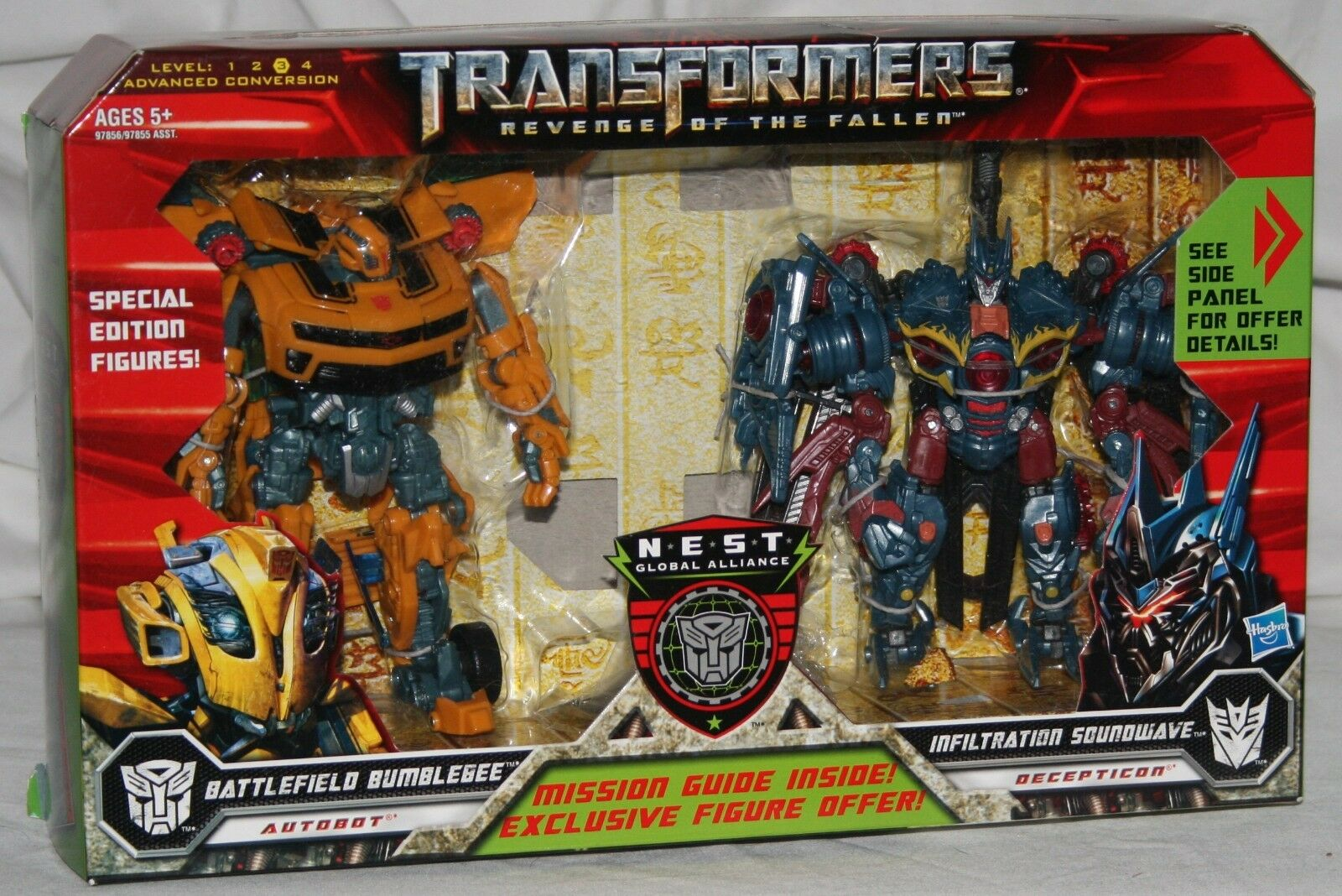 Transformers redF battlefield bumblebee Infiltration soundwave deluxe MIB