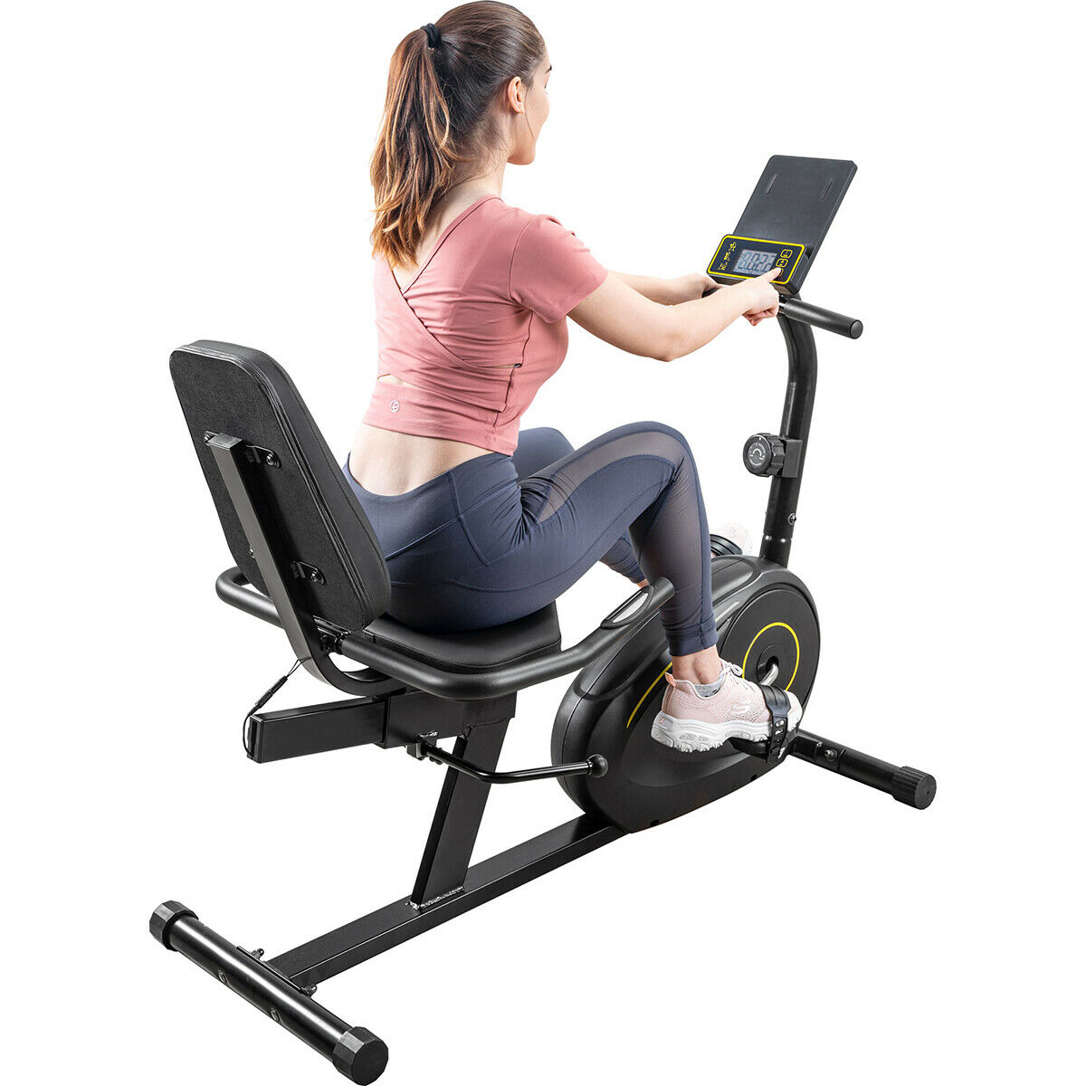 Home Recumbent Exercise Bike Magnetic 8-Level Resistance w/B