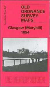 OLD-ORDNANCE-SURVEY-MAP-GLASGOW-MARYHILL-1894-WYNDFORD-EASTPARK-POSSIL-PARK
