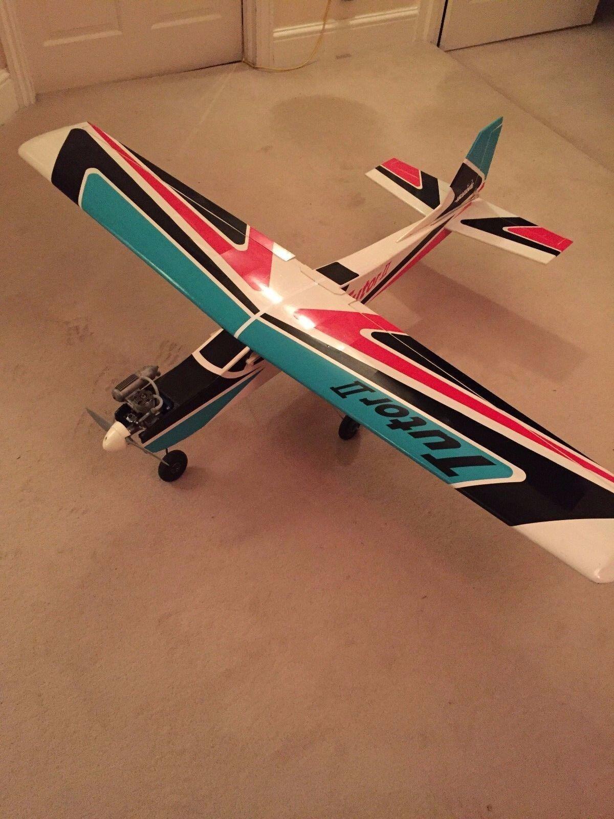 RC Radio Controlled Aircraft Aeroplane Irvine Tutor 2 Trainer with engine Used