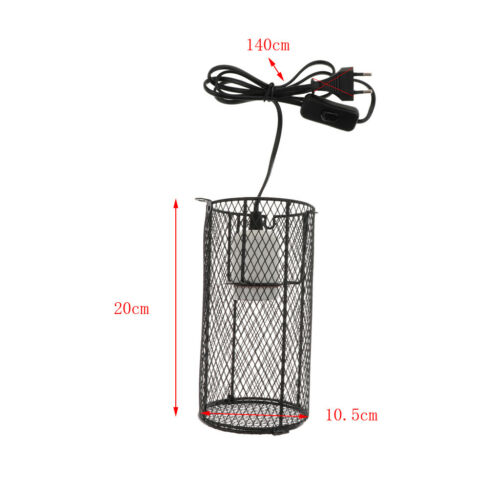 EU tecker Terrarium Lampenschutzkorb Anti-Heizung Lampenschirm für E27 Glühbirne