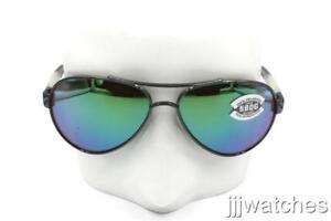 1d4408b4af1 New Costa Del Mar LORETO Gunmetal Sunglasses Green Glass Lenses LR ...