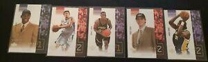 2002-03 Upper Deck Ovation 5 RC Cards - Nene, Jaric, Rush, Nachbar, Sampson