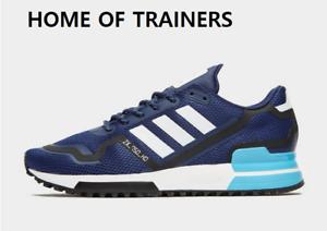 Détails sur Adidas Originaux Zx 750 Bleu Noir Blanc HOMME Baskets Toutes les Tailles