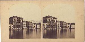 Venezia-Palazzo-Balbi-Venezia-Italia-Foto-Stereo-Vintage-Albumina-Ca-1860