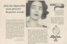 Y4370 Orologi ALPINA - Pubblicità d'epoca - 1929 Old advertising