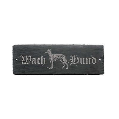 Energisch Wetterfestes Schild « Wachhund Greyhound Windhund » Türschild Hund 22 X 8 Cm