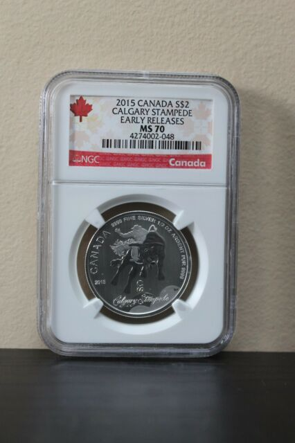 2015 Canada Calgary Stampede Early Releases S$2 NGC MS70