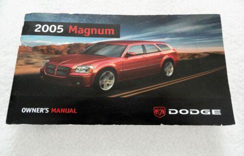Dodge Magnum User Manual Guide Owners manual Operating information book