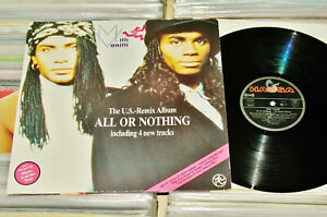 Milli-Vanilli-LP-VG-All-Or-Nothing-The-US-Remix-Album-HANSA-Germany-FOC