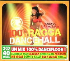 100% RAGGA DANCEHALL - DANCEFLLOR 2 CD COMPILATION NEUF ET SOUS CELLO