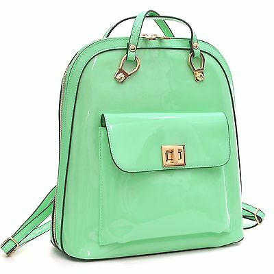 New Dasein Lady Leather Backpack Travel Rucksack Bag Satchel Purse Schoolbag