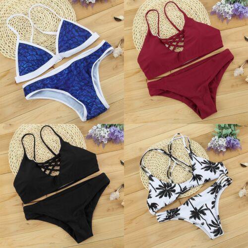Women/'s Bandage Bikini Set Push-up Padded Brazilian Triangle Swimsuit Swimwear