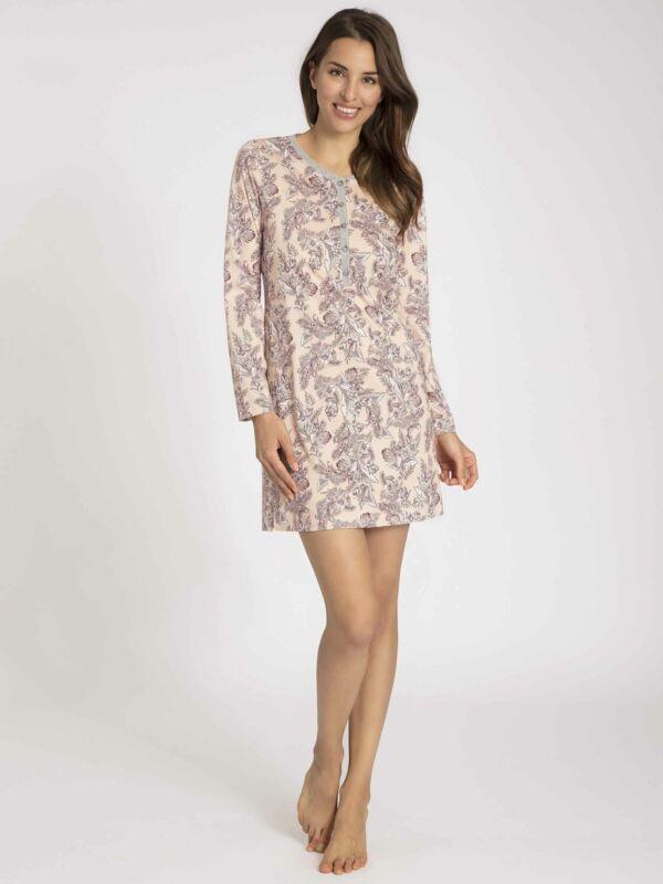 Calida Damen Sleepshirt Mit Knopfleiste, Länge 90cm Gwyneth Neu & Ovp
