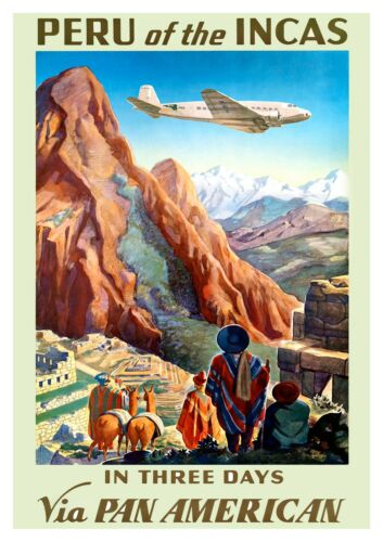 poster Reproduction. Wall art Peru of the Incas : Vintage Travel advert