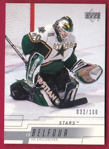 2000-01-Upper-Deck-Exclusives-Tier-1-287-Ed-Belfour-100