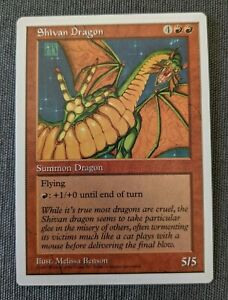 The Gathering MTG Fifth Edition Shivan Dragon LP Magic