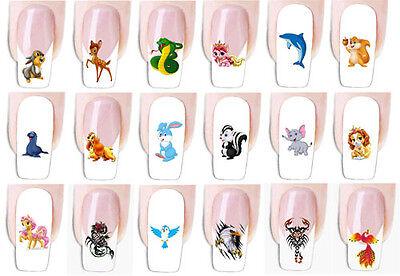 Wraps Tiere Fingernagel Nail Art Tattoo Sticker Decal Folie