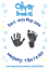 Personalised Blue Name BirthDay New Baby Boy 1st Handprint Footprints Prints Kit