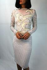 Asos White Floral Red Carpet Embellished Shift Wedding Midi Dress 14 42 New