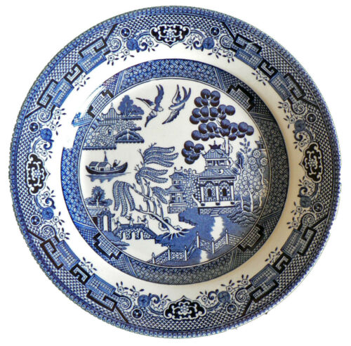 Churchill China Blue Willow Mint 26cm//10 Inch Dinner Plate NEW