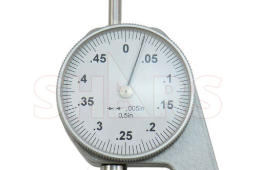 """.500/"""" X .005/"""" INSPECTION DIAL THICKNESS GAGE GAGES NEW"""