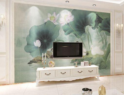 3D Lotusblatt 8767 Fototapeten Wandbild Fototapete BildTapete Familie DE