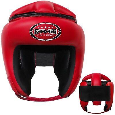 Farabi Synthetic Leather Boxing Head Guard Kick Boxing Head Protection Helmet