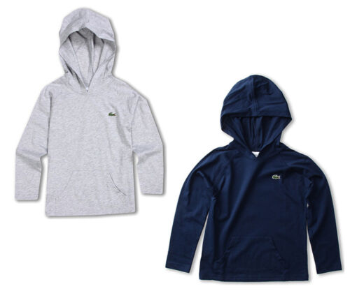 NEW Lacoste Kids Long Sleeve Jersey Cotton Hoodie Tee Shirt Pullover