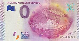BILLET-0-EURO-THEATRE-ANTIQUE-D-039-ORANGE-FRANCE-2015-NUMERO-2200