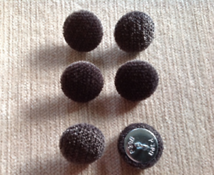 Crushed Velvet 30L//19mm Silver Grey Upholstery Fabric Covered Buttons Craft