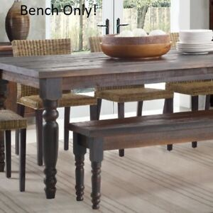 Image Is Loading Rustic Kitchen Bench For Dining Table Dark Wood