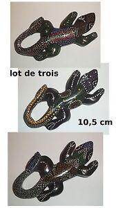 Lot De 3 Lézards Aimant En Bois , Magnet Pour Frigo G-t1 X7caeyct-08011256-766524011