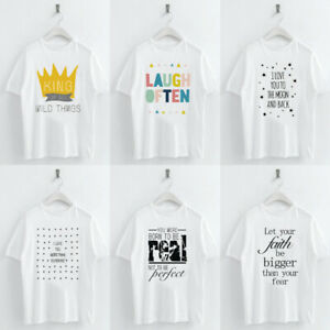 Women-Casual-T-shirt-Letters-Crown-Star-Printed-Round-Neck-Short-Sleeve-Top-Tee