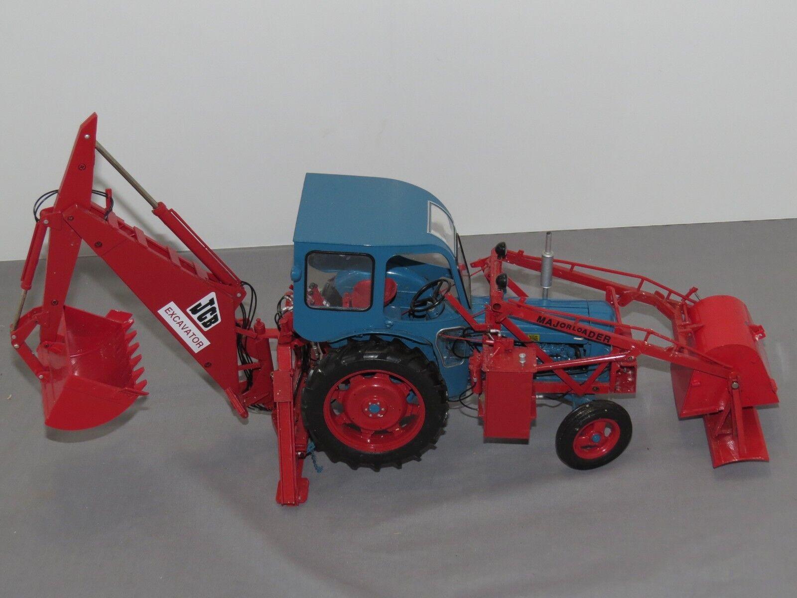 Excavadora JCB principales Cargador Mk 1 Universal Hobbies 1:16 Diecast Retroexcavadora Sharp
