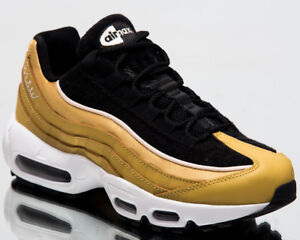 Details about Nike Wmns Air Max 95 LX Women New Wheat Gold Black Casual Sneakers AA1103 701