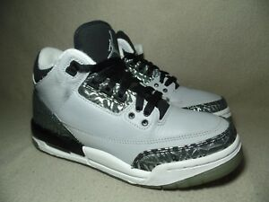 the latest 8059a 06cb3 Image is loading NIKE-AIR-JORDAN-3-RETRO-BG-WOLF-GREY-
