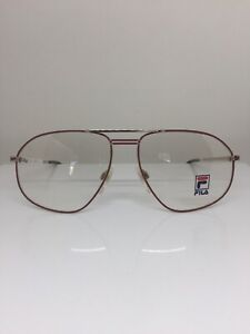 New-Vintage-Fila-Eyeglasses-Fila-6501-Eyeglasses-C-A-Matte-Red-w-Gold-60-16mm