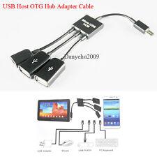 Micro USB Dual OTG Host Hub Kabel Adapter für Google Nexus Samsung N5100 S3 S4