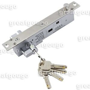 Door Electric Drop Bolt Lock with Key Locked when Power Off Time Delay LED